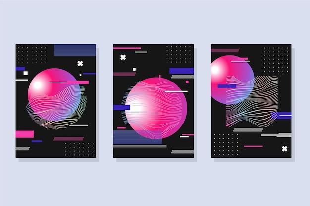 Gradientowa, futurystyczna kolekcja okładek