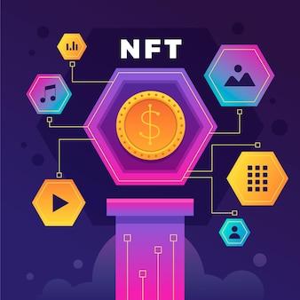 Gradientowa futurystyczna koncepcja nft