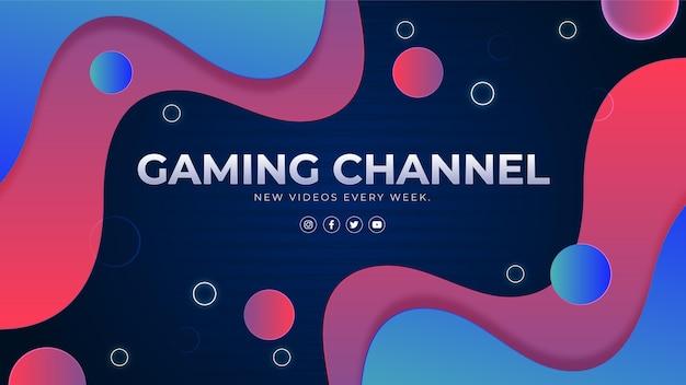 Gradientowa grafika kanału youtube poświęcona grom