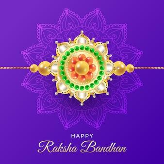 Gradientowa ilustracja bandhan raksha