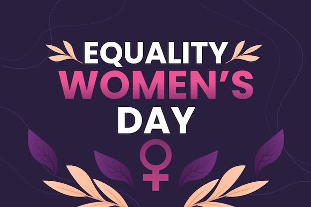 Gradientowa ilustracja dnia równości kobiet
