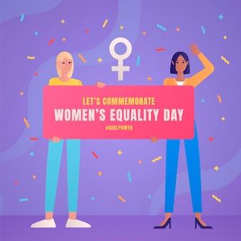 Gradientowa Ilustracja Dnia Równości Kobiet Darmowych Wektorów