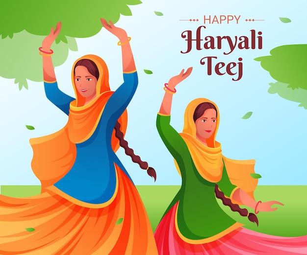 Gradientowa ilustracja festiwalu teej