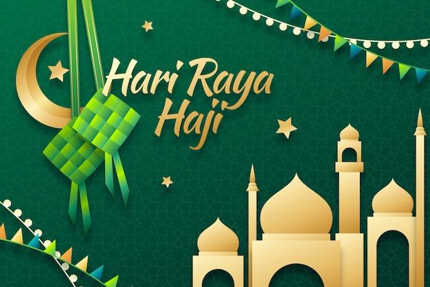 Gradientowa ilustracja hari raya haji