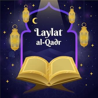 Gradientowa ilustracja laylat al-qadr