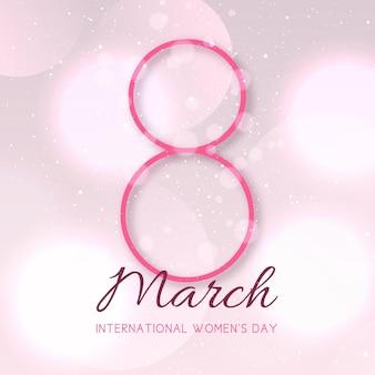 Gradientowa ilustracja międzynarodowego dnia kobiet z datą