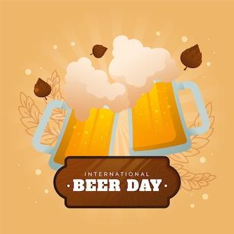 Gradientowa ilustracja międzynarodowego dnia piwa