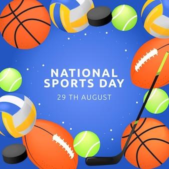 Gradientowa ilustracja narodowego dnia sportu