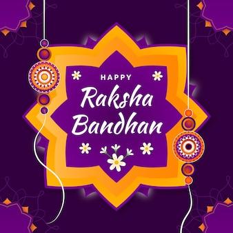 Gradientowa ilustracja raksha bandhan