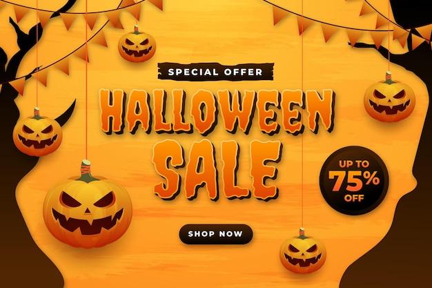 Gradientowa ilustracja sprzedaży halloween