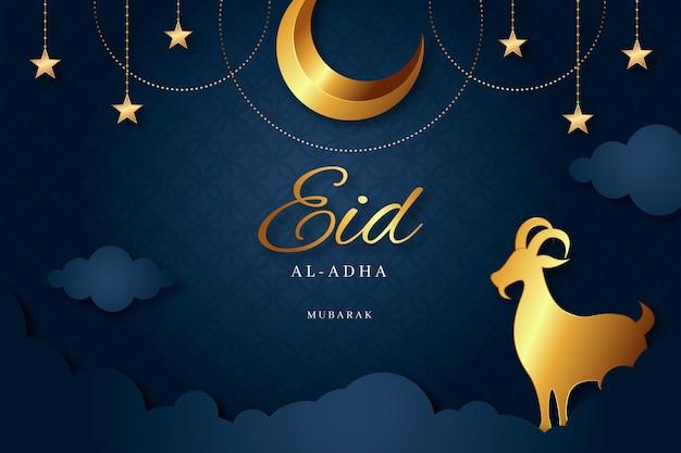 Gradientowa ilustracja uroczystości eid al-adha