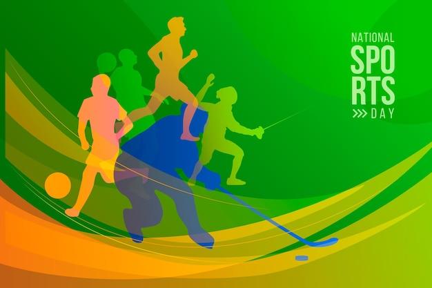 Gradientowa indonezyjski narodowy dzień sportu ilustracja