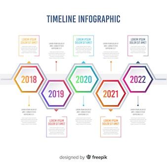 Gradientowa infografika osi czasu