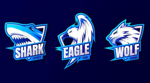 Gradientowa kolekcja logo gier e-sportowych