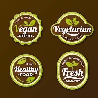 Gradientowa kolekcja odznak wegetariańskich
