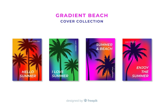 Gradientowa kolekcja okładek plażowych
