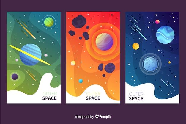 Gradientowa kolekcja okładek w przestrzeni kosmicznej