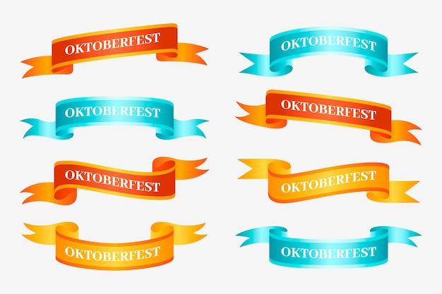Gradientowa kolekcja wstążek oktoberfest
