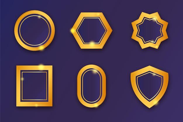 Gradientowa kolekcja złotych odznak