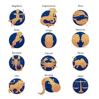 Gradientowa kolekcja znaków zodiaku