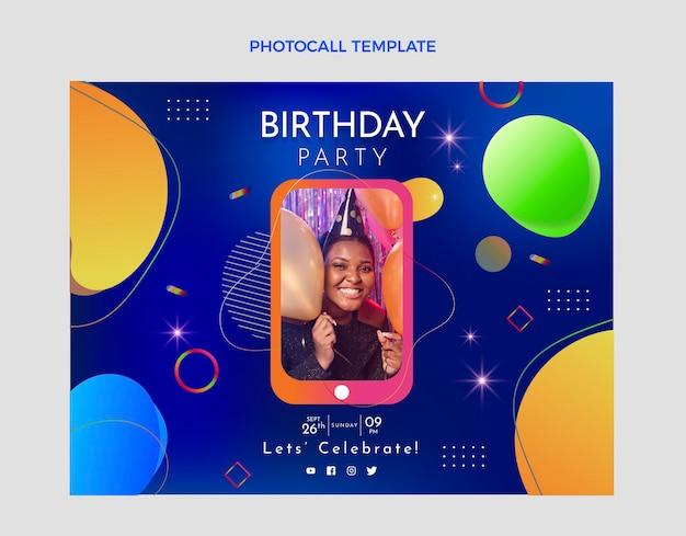 Gradientowa kolorowa fototapeta urodzinowa