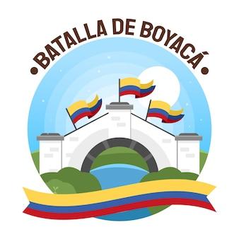 Gradientowa kolumbijska ilustracja batalla de boyaca