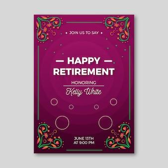 Gradientowa kreatywna emerytura z życzeniami