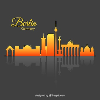 Gradientowa linia horyzontu berlin