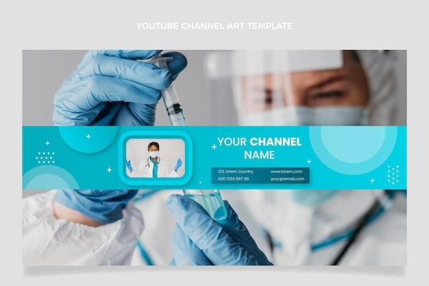 Gradientowa medyczna grafika kanału youtube