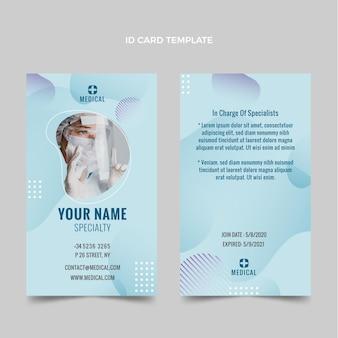 Gradientowa medyczna karta identyfikacyjna
