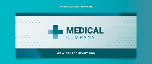 Gradientowa medyczna okładka na facebooku