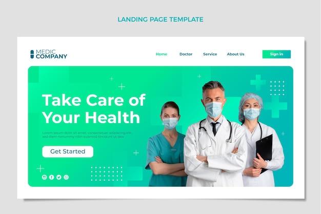 Gradientowa medyczna strona docelowa