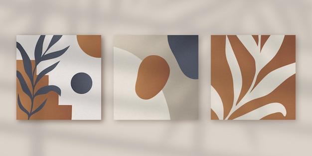Gradientowa minimalna ręcznie rysowana kolekcja okładek
