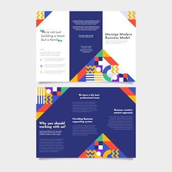 Gradientowa mozaika trifold szablon broszury
