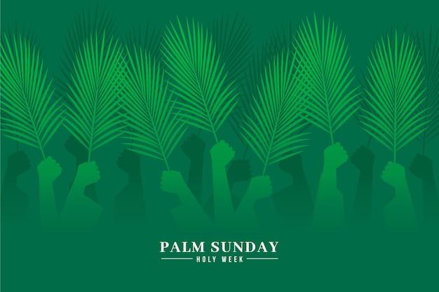 Gradientowa niedziela palmowa