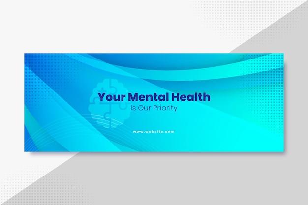 Gradientowa okładka facebooka na temat zdrowia psychicznego
