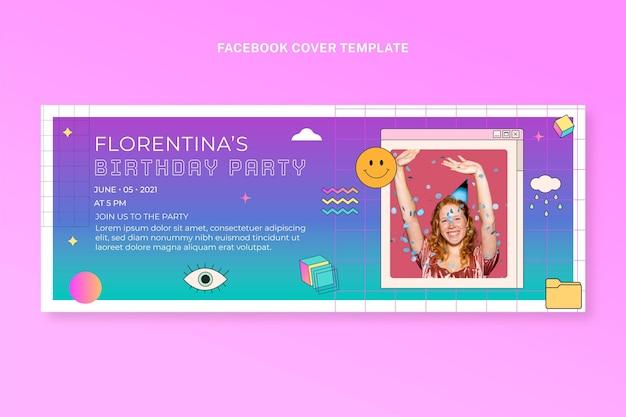 Gradientowa okładka na facebooka w stylu retro vaporwave!