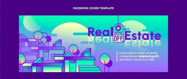 Gradientowa okładka na facebooku o nieruchomości