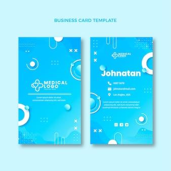 Gradientowa pionowa wizytówka medyczna