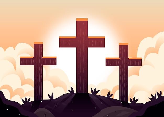 Gradientowa semana ilustracja santa
