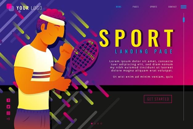 Gradientowa sportowa strona docelowa