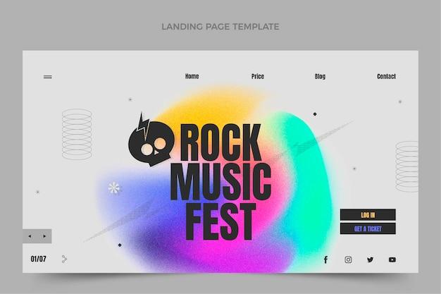 Gradientowa strona docelowa festiwalu muzycznego
