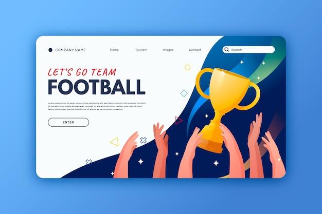 Gradientowa strona docelowa futbolu południowoamerykańskiego