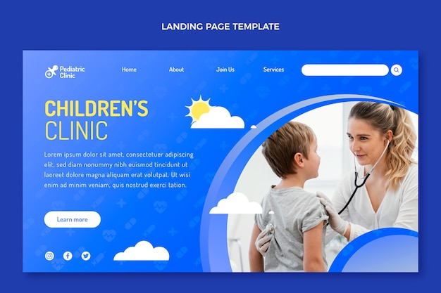 Gradientowa strona docelowa kliniki dziecięcej