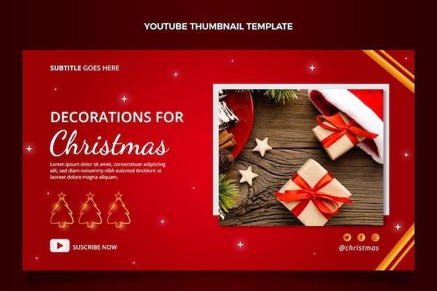 Gradientowa świąteczna miniatura youtube