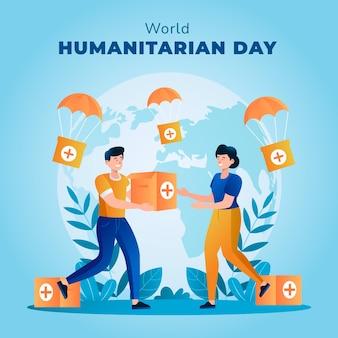 Gradientowa światowa ilustracja humanitarnego dnia