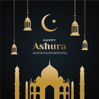 Gradientowa szczęśliwa ilustracja ashura