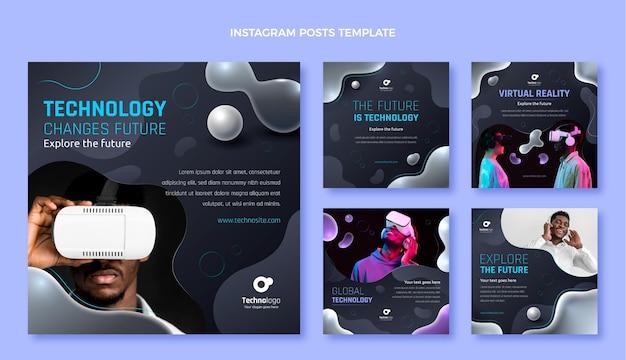 Gradientowa technologia płynów na instagramie