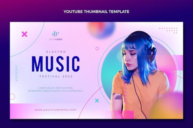 Gradientowa tekstura festiwalu muzycznego youtube miniatura
