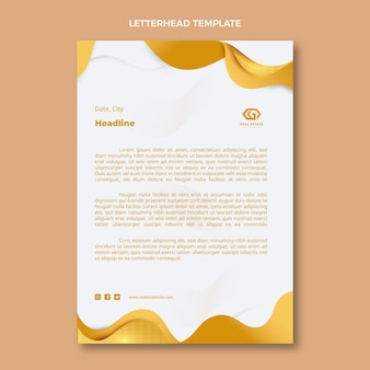 Gradientowa tekstura papieru firmowego nieruchomości
